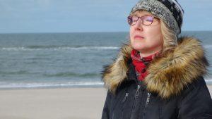 Autorin Gabriele Dummschat beim Inspirationen sammeln