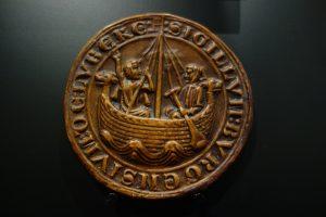 Siegel mit Kogge der Hansestadt Lübeck