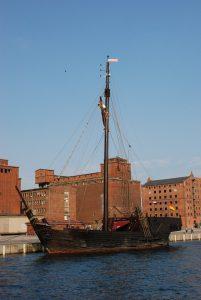 Kogge Wissemara im Hafen von Wismar