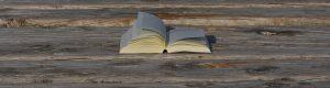 Buch auf einem Holzsteg